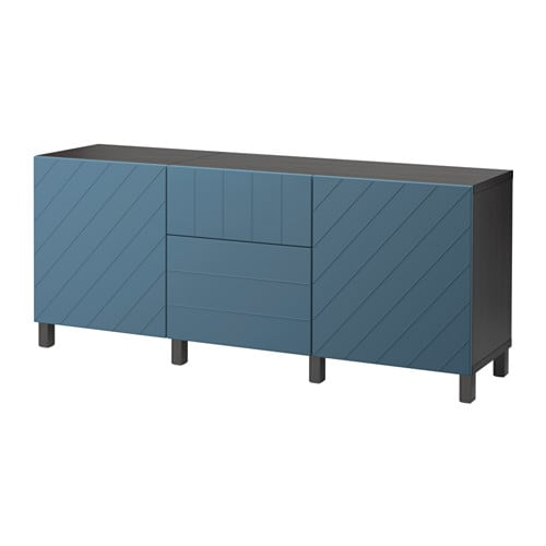 best kommode brunsvart hallstavik m rk bl skuffeskinne lukkes mykt ikea. Black Bedroom Furniture Sets. Home Design Ideas