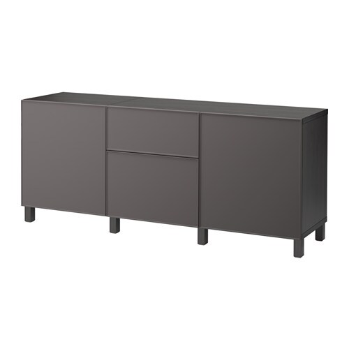 best kommode brunsvart grundsviken m rk gr skuffeskinne trykk pen beslag ikea. Black Bedroom Furniture Sets. Home Design Ideas