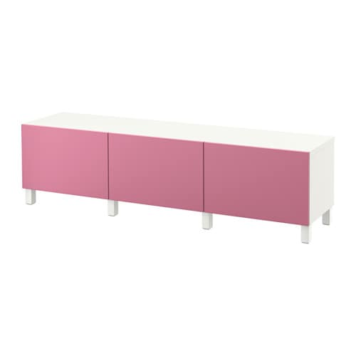 best kommode hvit lappviken rosa skuffeskinne trykk pen beslag ikea. Black Bedroom Furniture Sets. Home Design Ideas