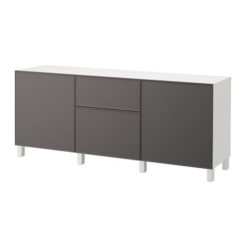best kommode hvit grundsviken m rk gr skuffeskinne lukkes mykt ikea. Black Bedroom Furniture Sets. Home Design Ideas