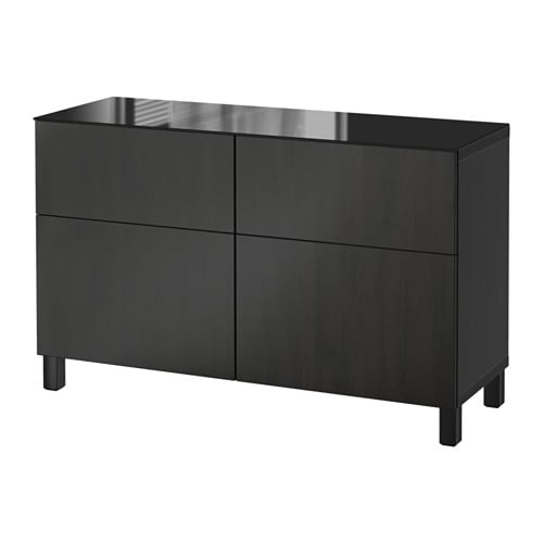 best kommode lappviken brunsvart skuffeskinne trykk pen beslag ikea. Black Bedroom Furniture Sets. Home Design Ideas