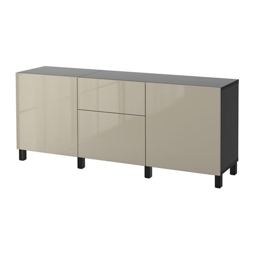 best kommode brunsvart selsviken h yglanset beige skuffeskinne trykk pen beslag ikea. Black Bedroom Furniture Sets. Home Design Ideas
