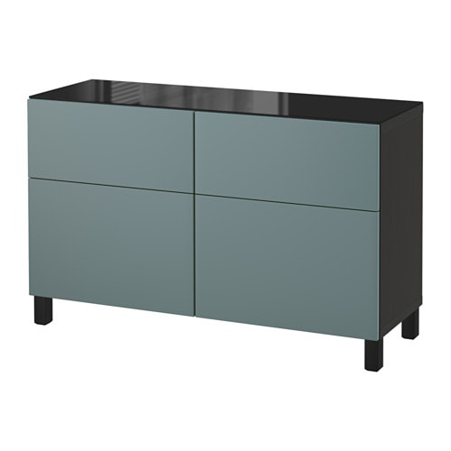 best kommode brunsvart valviken gr turkis skuffeskinne lukkes mykt ikea. Black Bedroom Furniture Sets. Home Design Ideas