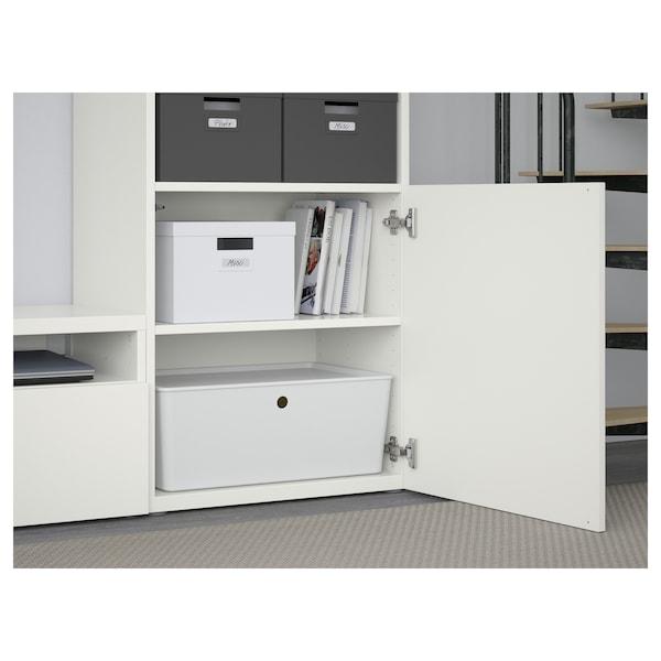 BESTÅ / LACK Tv-møbel, kombinasjon, hvit, 240x42x193 cm