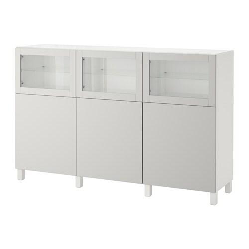 ... Oppbevaring med d?rer - hvit Lappviken/lys gr? klart glass - IKEA