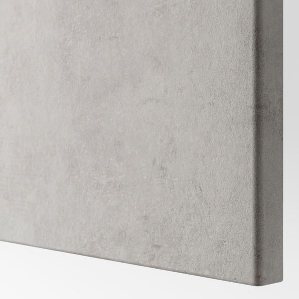 BESTÅ Oppbevaringskomb m dør/skuffer, hvit Kallviken/lys grå betongmønstret, 120x42x65 cm