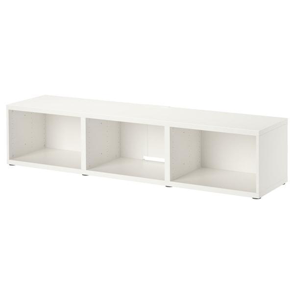 BESTÅ TV-benk, hvit, 180x40x38 cm
