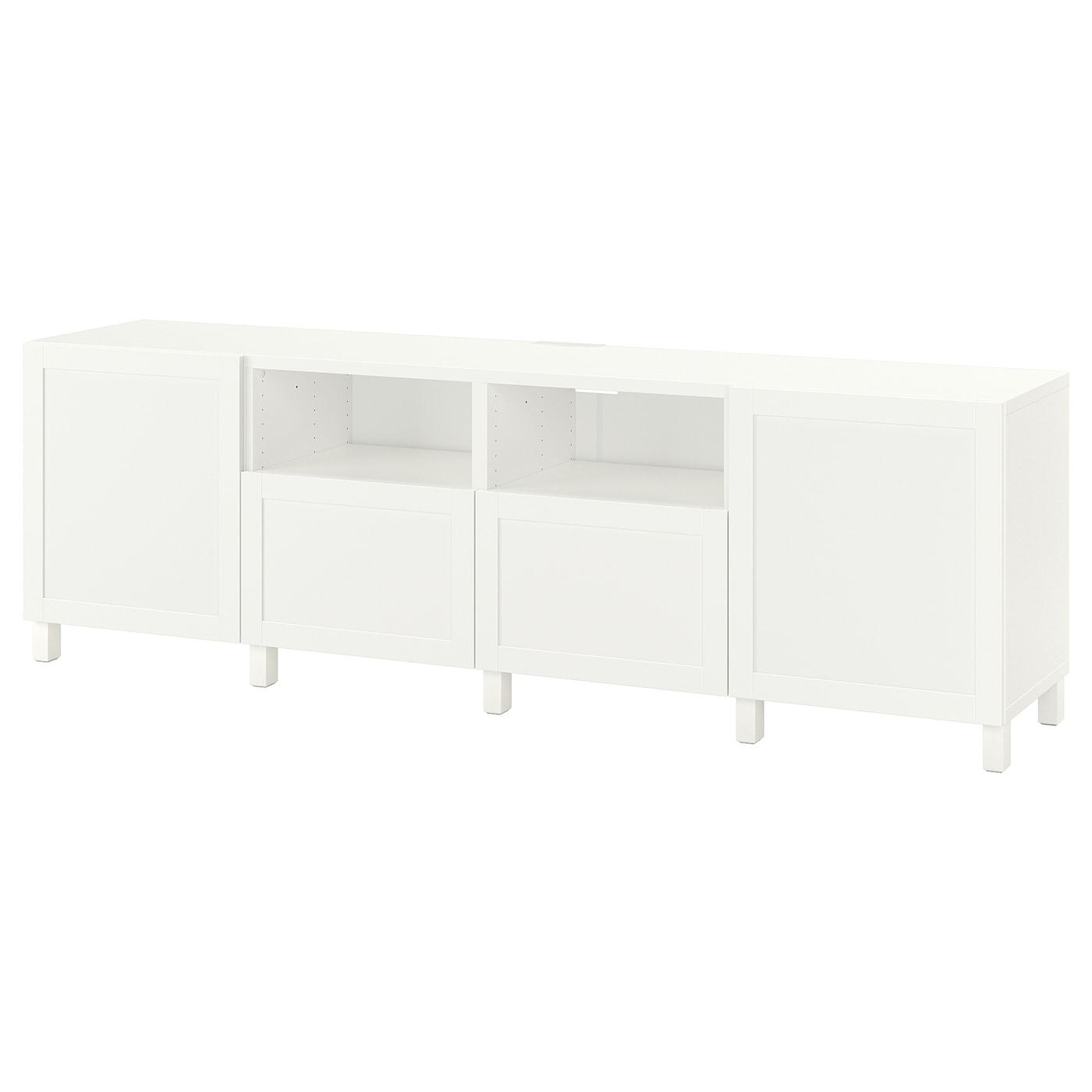 BESTÅ TV benk med skuffer hvitHanviken hvit IKEA