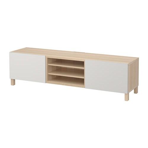 BEST? TV-benk med skuffer IKEA Skuffene og d?rene lukkes stille og ...