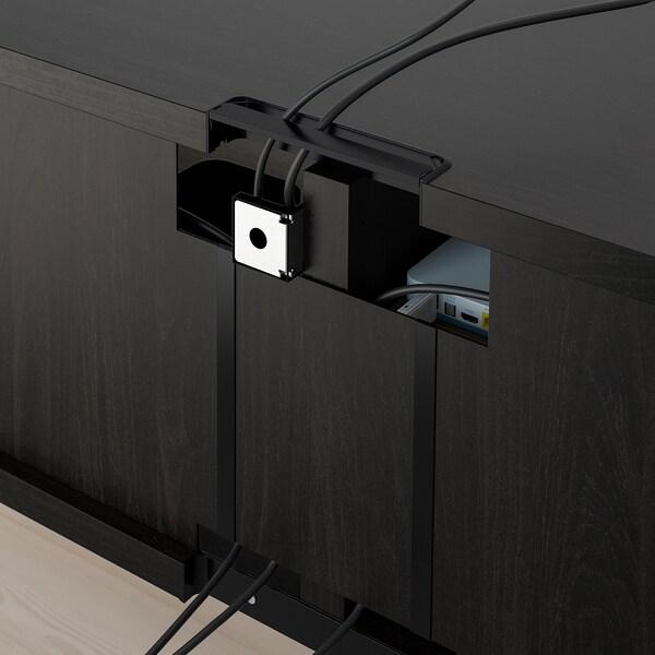BESTÅ Tv-møbel, kombinasjon, brunsvart/Lappviken/Stubbarp brunsvart, 240x42x230 cm