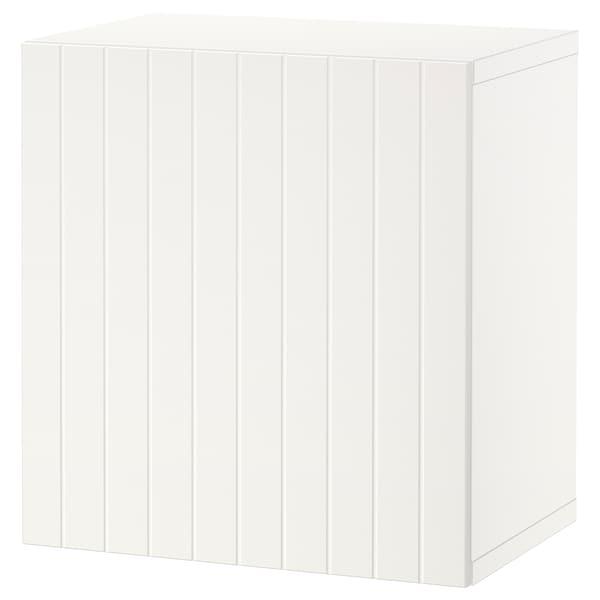 BESTÅ Veggmontert skapkombinasjon, hvit/Sutterviken hvit, 60x42x64 cm
