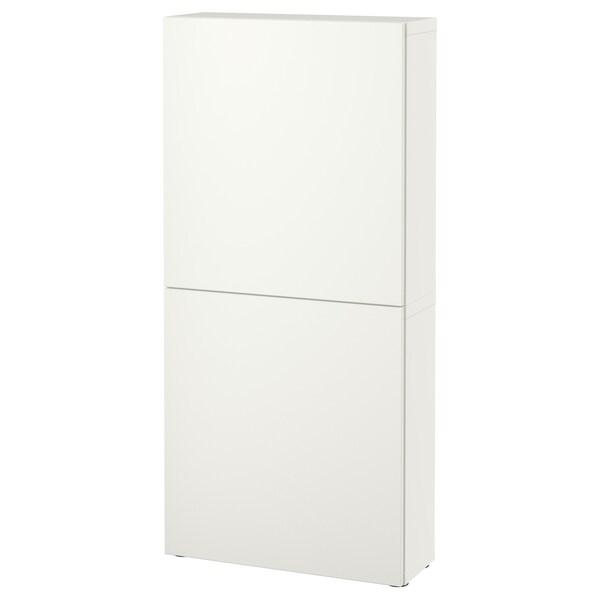 BESTÅ veggskap med 2 dører Lappviken hvit 60 cm 22 cm 128 cm