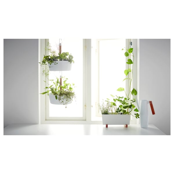 BITTERGURKA Blomsterpotte, hvit, 32x15 cm
