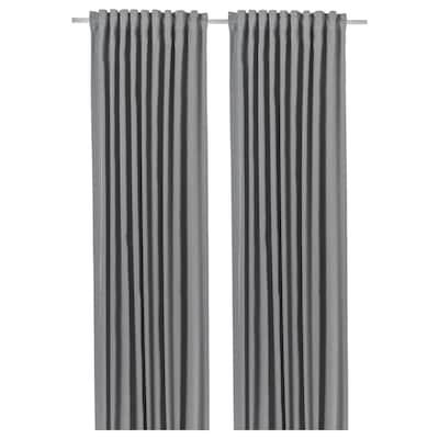 BLÅHUVA Lysdempende gardiner, lys grå, 145x250 cm