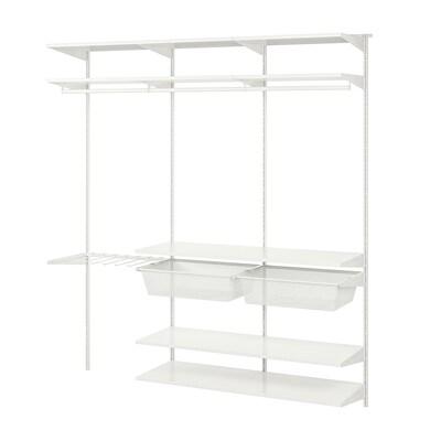 BOAXEL Garderobekombinasjon, hvit, 187x40x201 cm