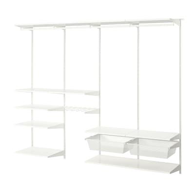 BOAXEL Garderobekombinasjon, hvit, 250x40x201 cm