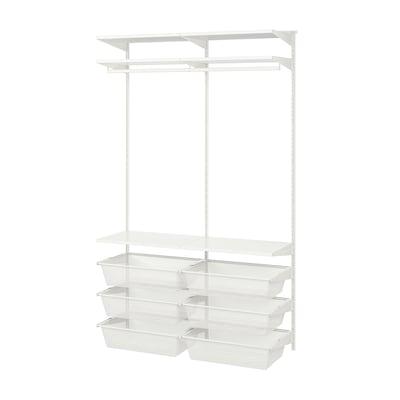 BOAXEL Garderobekombinasjon, hvit, 125x40x201 cm