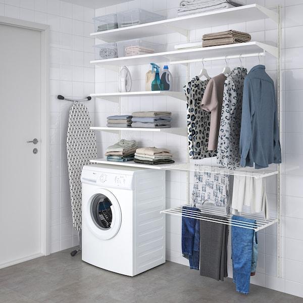 BOAXEL Kombinasjon til vaskerom, hvit, 165x40x201 cm