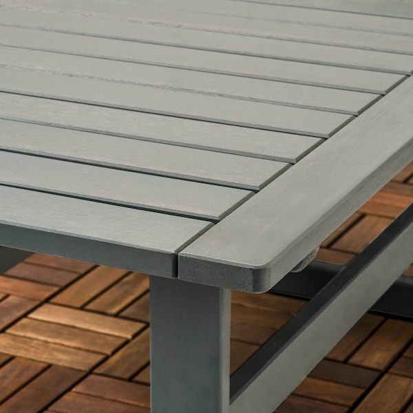 BONDHOLMEN 4-seters møbelgruppe, utendørs, gråbeiset/Frösön/Duvholmen blå