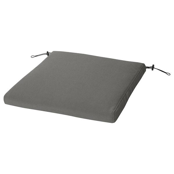 BONDHOLMEN Bord + 6 stoler m armlener, utend, gråbeiset/Frösön/Duvholmen mørk grå