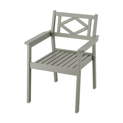 BONDHOLMEN Stol med armlener, utendørs, grå