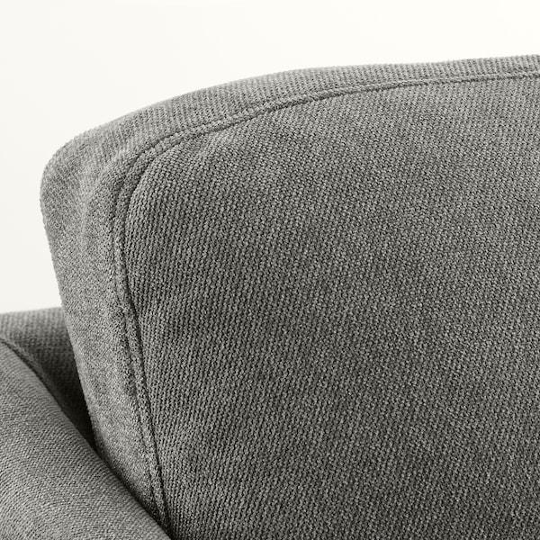 BRÅTHULT 3-seters sofa, Borred grågrønn