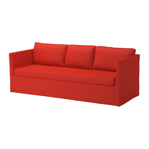 br thult 3 seters sofa vissle r d oransje ikea. Black Bedroom Furniture Sets. Home Design Ideas