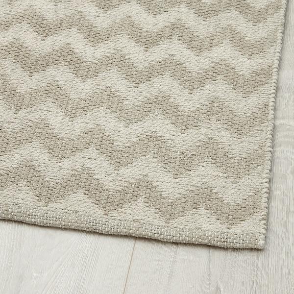 BREDEVAD Teppe, flatvevd, sikksakkmønster beige, 75x150 cm