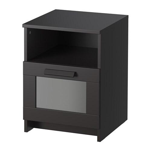 BRIMNES Nattbord svart IKEA