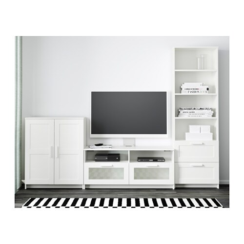 brimnes tv m bel kombinasjon hvit ikea. Black Bedroom Furniture Sets. Home Design Ideas
