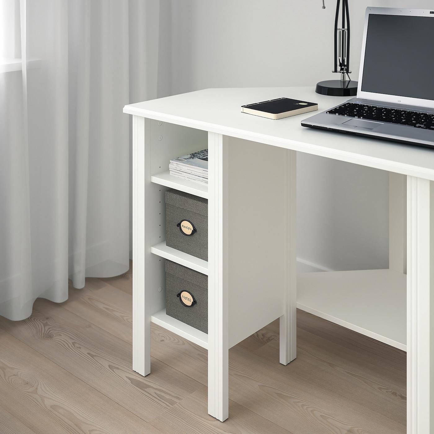 BRUSALI Hjørnearbeidsbord hvit IKEA