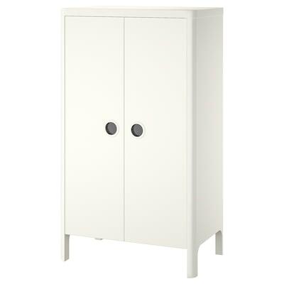 BUSUNGE Garderobeskap, hvit, 80x139 cm