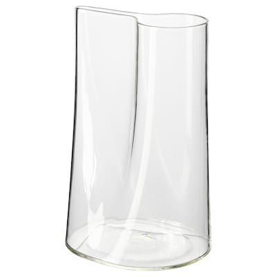 CHILIFRUKT Vase/vannkanne, klart glass, 21 cm