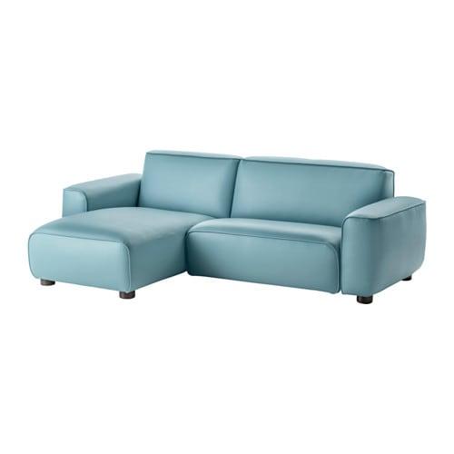 Dagarn 2 seters sofa med sjeselong kimstad turkis ikea - Ikea wanduhr turkis ...