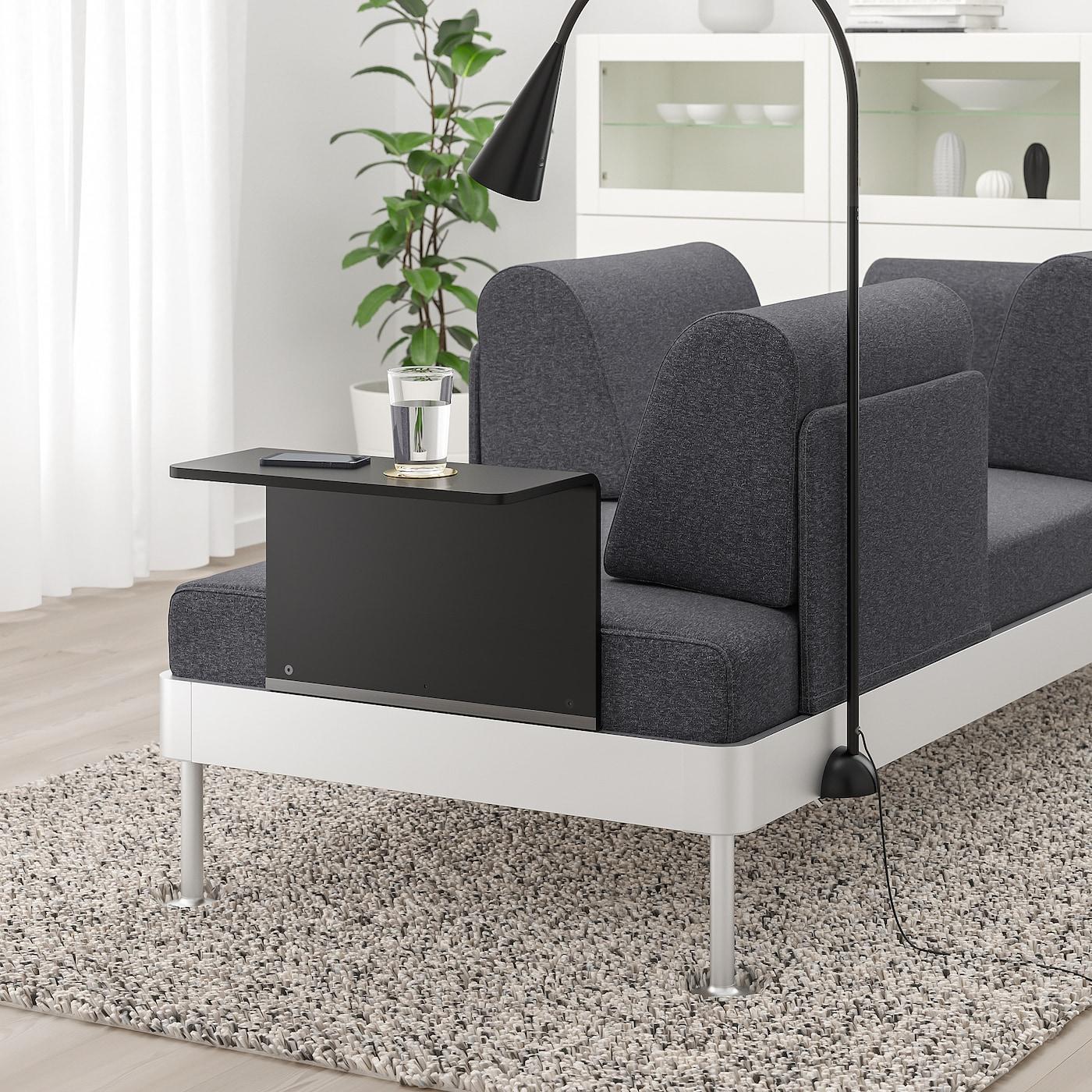gunnared sofa grå lamper som passer