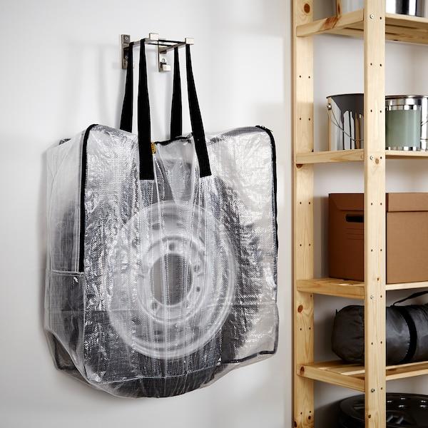 DIMPA Oppbevaringspose, transparent, 65x22x65 cm