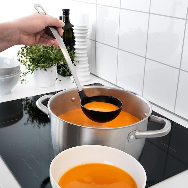 DIREKT Kjøkkenredskaper, 3 deler, svart/rustfritt stål