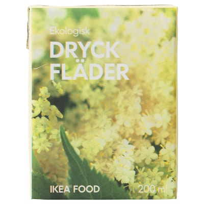 DRYCK FLÄDER Hylleblomstdrikk, økologisk, 200 ml