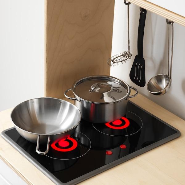 DUKTIG Små kjøkkenredskaper, 5 deler, flerfarget