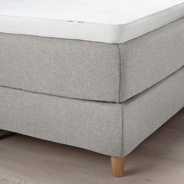 DUNVIK Kontinentalseng, Vatneström medium/Tistedal Gunnared beige, 160x200 cm