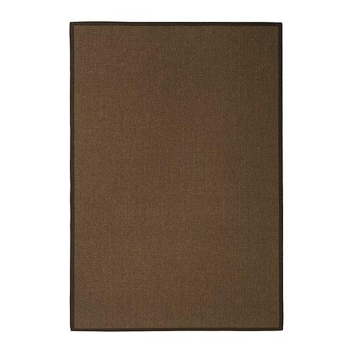 EGEBY Teppe, flatvevd mellombrun Lengde: 195 cm Bredde: 133 cm