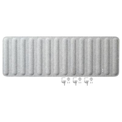 EILIF Avskjerming for arbeidsbord, grå, 140x48 cm