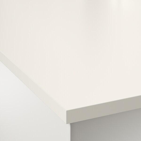 EKBACKEN spesialtilpasset benkeplate offwhite/laminat 100 cm 10 cm 400 cm 63.6 cm 125 cm 2.8 cm