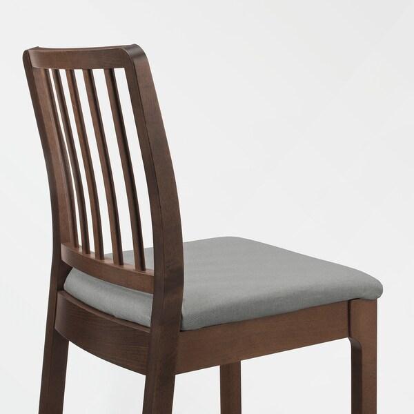 EKEDALEN Barstol, brun/Orrsta lys grå, 75 cm