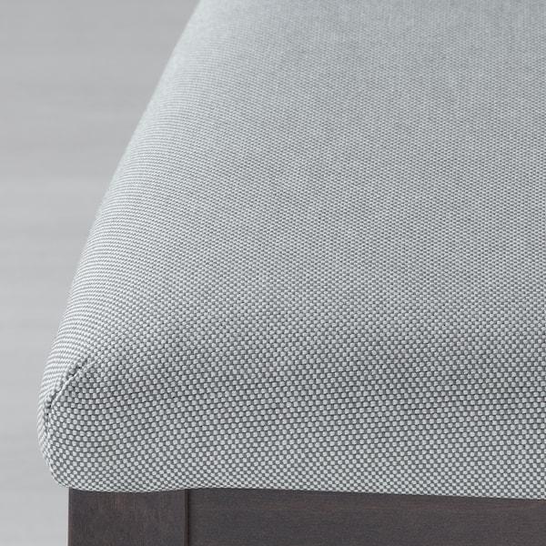 EKEDALEN / EKEDALEN Bord og 6 stoler, mørk brun/Orrsta lys grå, 180/240 cm
