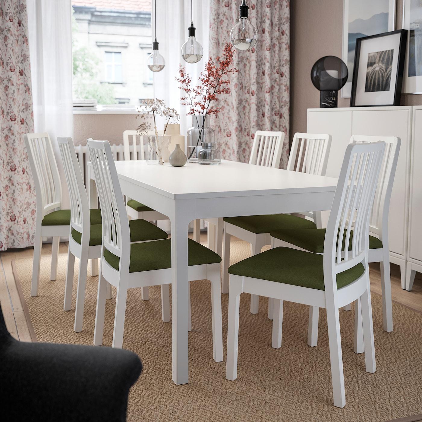EKEDALEN Stol hvitOrrsta olivengrønn IKEA