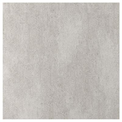 EKEKULL Spesialtilpasset veggplate, matt betongmønstret/keramikk, 1 m²x1.2 cm