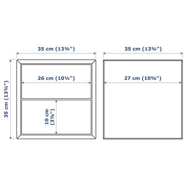 EKET Veggmontert skapkombinasjon, mørk grå, 175x35x70 cm