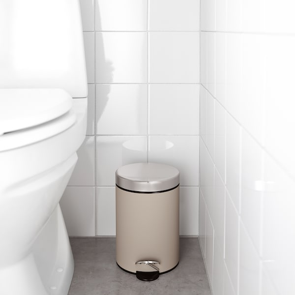 EKOLN Avfallsbøtte, beige
