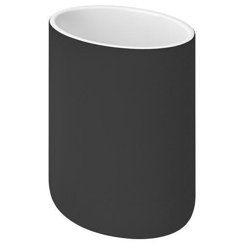 EKOLN tannbørsteholder mørk grå 11 cm